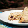 Black Cherry, Lemon, and Oatmeal Scones
