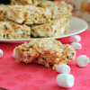 Raspberry Peach Marshmallow Squares