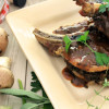 Golden Plum, Port, and Mushroom Pork Chops & Giveaway