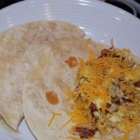 Potato, Egg and Bacon Breakfast Tacos