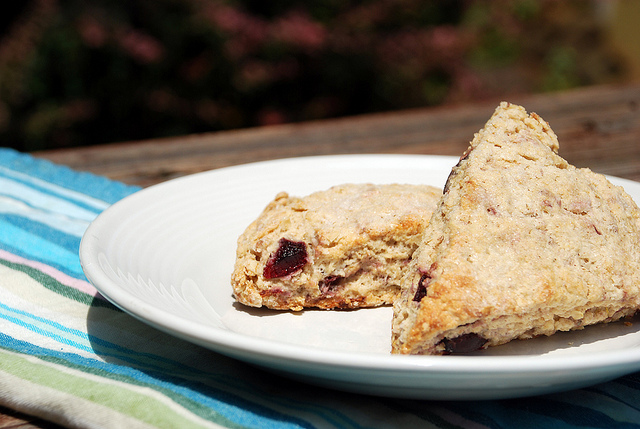 Post image for Black Cherry, Lemon, and Oatmeal Scones