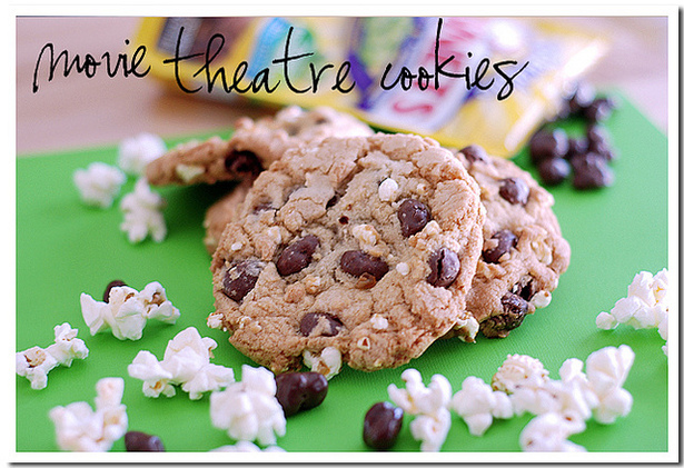 Movie Theater Cookies on BluebonnetBaker