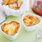 Ham and Swiss Baked Egg Souffles