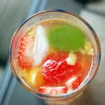 Peach, Strawberry and Baby Plum Sangria