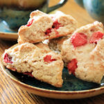 Fresh Strawberry Kefir Scones with Orange Glaze