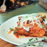 Sausage Vegetable Lasagna & Chinet Disposable Bakeware