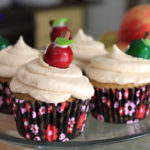 """Apple of Your Eye"" Apple Cider Cupcakes with Salted Caramel Frosting"