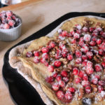 Gingerbread Pizza with Sugared Cranberries