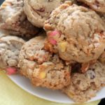 Oatmeal Almond Chocolate Chip Cookies from Bluebonnets & Brownies