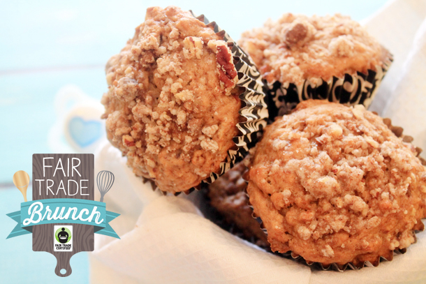 Coconut Oil Banana Muffins from Bluebonnets & Brownies