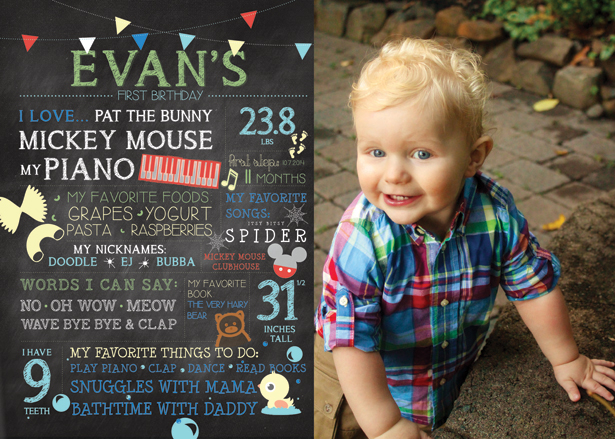 Evan's First Birthday Giveaway