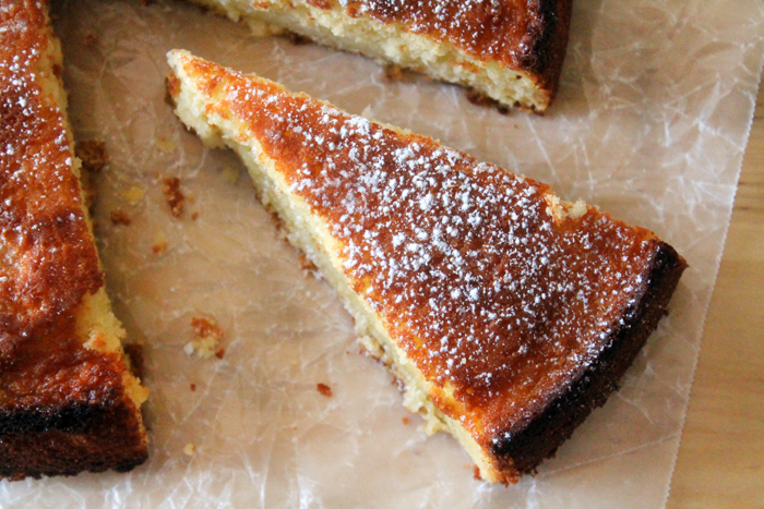 Meyer Lemon Butter Cake on Bluebonnet Baker