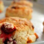 Pumpkin Spice Cranberry Scones from BluebonnetBaker.com
