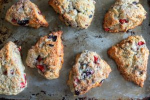 Mixed Berry Mascarpone Scones for Christina