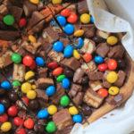 Leftover Halloween Candy Shortbread Bars